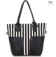 2014 Special Casual Navy Style Stripe Women Bag Canvas Women's Handbag Shoulder Bags