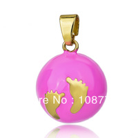 JY016- Wholesale 1pc 925 sterling silver Pendant Harmony Ball bell ringing Chime Sound of Angel Pregnant women 20mm ball chioce