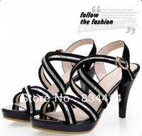 2014 New Summer Woman pumps shoes Brand high heels shoes High Quality Fashion Sexy Women sandals 2616
