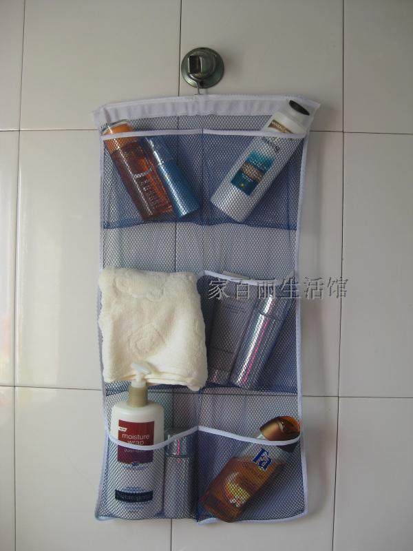 Free shipping multi purpose bathroom bag storage bag skin care daily necessities storage bag 6 mesh breathable(China (Mainland))