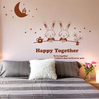 Magic rabbit - - child housing console wall stickers cartoon rabbit wall stickers