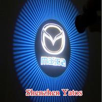 Mazda Mazda2 Mazda6 Mazda3 Mazda8 CX-5 CX7 Car Logo Door Light LED Step Cree Logo Light 4th Generation
