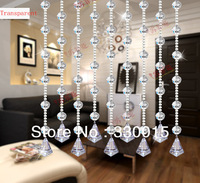 2014  High quality home decoration crystal curtain  transparent color  beads curtain hangings