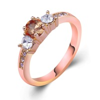 Free shipping Dropship Fashion Leisure sport Hot Design18K Rose Gold Filled Cubic Zircon Women Lady Fashion  Ring Jewelry RR0131