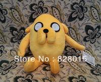 Wholesale Hot toys 30pcs/lot Adventure Time Jake Plush toys Size12cm Height Anime Phone Pendant, Phone Dust Plug For Gift