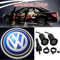 Volkswagen Car Door Laser Lamp Welcome Logo Light Step Ground Projector Bulb Auto