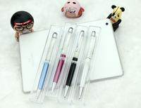 Free Shipping! Custom LOGO Promotional Gift Stylus Ballpoint Pen for iphone 4 5s ipad stylus SWAROVSKI rhinestone crystal dual
