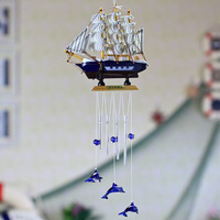 Wood tomtit hangings metal wall decoration wind chimes accessories 16cm