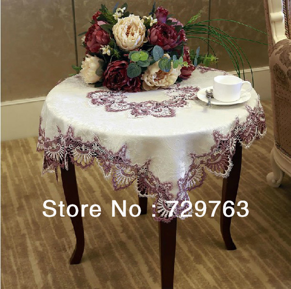 Upscale European Lace Coffee Tea Table Cloth Cover Cloths Tablecloth  Tablecloths Multipurpose Towels Home Decor Square 130*130cm