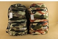 2014 New Fashion Women and Man Designer Camouflage Color Canvas Backpack Military Bag Men Travel Printing backpack Free Shipping