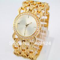New Model Women's Bracelets Dress Watch Steel Handmade Crystal  With Rhinestone/ Diamond  Elegant Quartz Clock Luxury Brand
