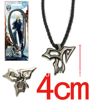 Free shipping Japanese popular anime Fashion Final Fantasy TIDUS Alloy Necklace Leather cord necklace