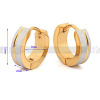 Wholesale GF gift high quality women jewelry wedding earrings Elaborate Gold Plated earrings