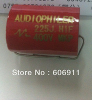 Free shipping red Audio capacitors 225 J /400V 2.2UF/400V axial capacitor 2200nf Feedthrough capacitors