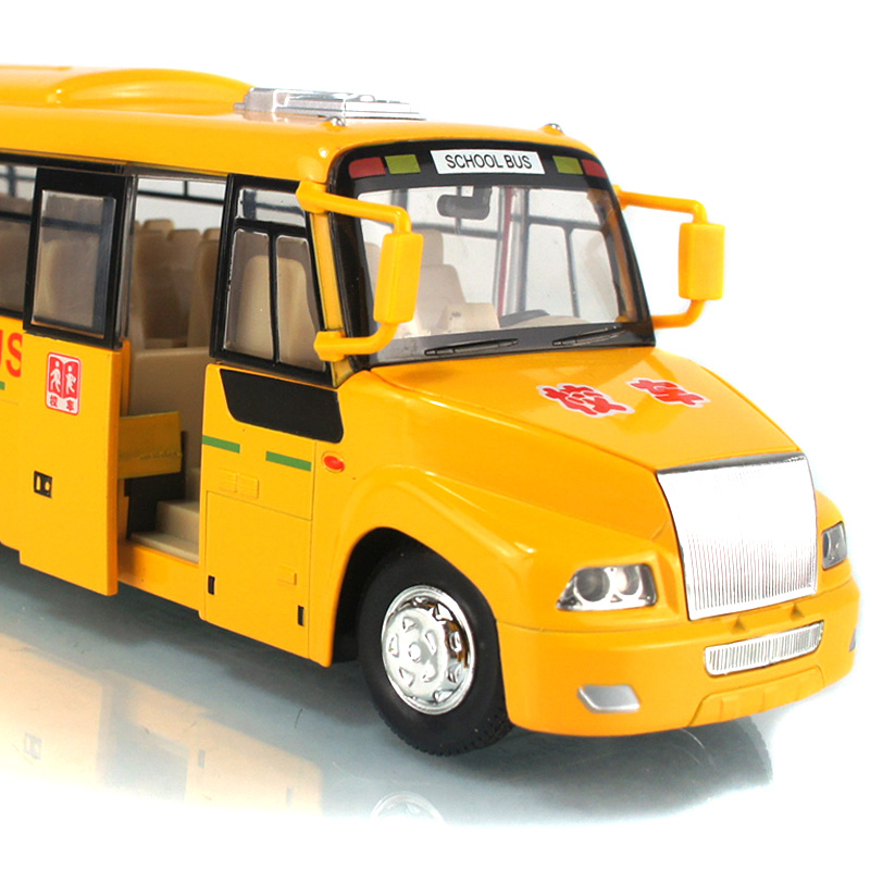 Kids' toy Ultralarge WARRIOR vocalization stunning big school bus toy cars vehicles with light childre's toys(China (Mainland))