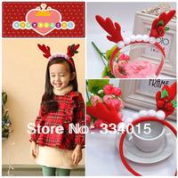 wholesale 2014 Girls headband for christmas baby girl hippie headband flower christmas hairbands FG-83