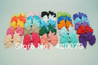 "50 Pcs/lot 3"" Pinwheel Bow With Clip For Baby,Handmade Small Hair Bow For Kids,Baby Hair Accessories With Clip CNHBW-14022204"
