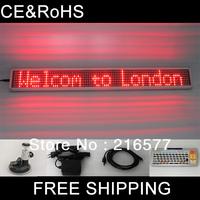 2014 Aliexpress Car led dot matrix display/led scrolling panel/taxi led light sign