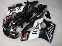 7gifts For SUZUKI GSX-R600 96 97 GSX R600 96-00 GSXR 600 98 99 00 GSXR600 96 1996 1997 1998 1999 2000 WEST BLACK Fairing