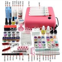 Nail Art Toiletry Kit Set Nail Polish Glue Finger Light Therapy Machine Full Set Nail Tools Polish Nail Gel Manicure Set
