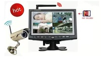 H.264 2.4GHz 7 Inch Digital Wireless CCTV System LCD DVR Monitor with 1 Camera Ship by China Post Air Mail