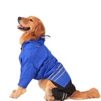 Pet raincoat for dogs outdoor Big dog clothing waterproof pet coat Clothes and trousers Reflective clothes dog