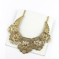 lace flower necklace Exaggerated exoticism retro sweater short necklace chain forever women jewelry accessory