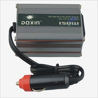 Freeshipping high quality  aluminum 150W Car DC 12V to AC 220V Power Inverter - Silver