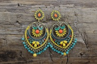 Y-X Latest Statement Vintage Earrings Of India Style Health Care Nickel Free Women Jewelry Leaves Earring 1204413