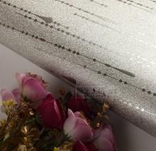 Folha de prata Modern Wallpaper Papel de parede Rolo Para Bar Club PVC Wallpaper dourado e preto listrado Wallpaper Papel De Parede(China (Mainland))