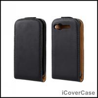 Flip Genuine Leather Case Cover For HTC Desire S S510e (G12) Black