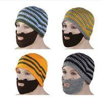 150pcs/lots women men handmade knitting wool unisex beard hat Warm cap Ski Mask 2002