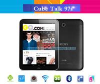 Original 9.7 inch Cube U59GT Talk97S Phone Call 3G Tablet PC MTK8312 dual core 1.3GHz WCDMA bluetooth GPS FM Dual sim card