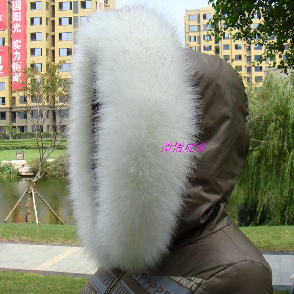 Fox fur collar raccoon fur collar fur cap of son false collar muffler scarf cape white golden tips(China (Mainland))