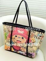 Fashion women's 2014 doodle handbag fashion cartoon ONE PIECE shoulder bag color block large capacity casual messenger totes