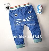 2014 new item kids cute jeans pant denim pant 1-4 years two colors