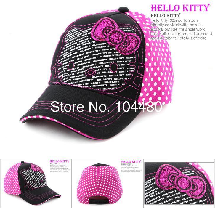 new design 2014 hello kitty girls baseball caps toddler kids children snapback hip hop hat wholesale 10pcs/lot(China (Mainland))
