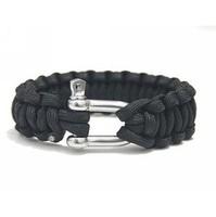 Free shipping Risers bracelet rope steel buckle bracelet quick release lifebelts bracelet