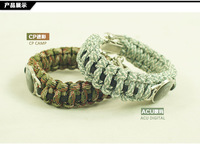 Free shipping outdoor accessories skull risers bracelet field emergency bracelet life-saving rope hand ring