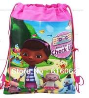 Free shipping 5pcs/LOT Doc girl  Cartoon Drawstring Backpack Bag ,Children Kids Bag 34X27CM,schoobag,party gift