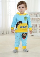 Cartoon Dog Sets 2014 Spring Children Clothing Set hooded Boy/girl Tracksuits Children Sport Suits Infant Animal Costumes 611