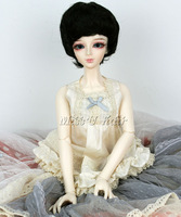 "8-9"" 1/3 BJD Wig hair Doll SD Super Dollfie Short wavy black wig"