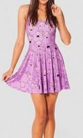 Best Quality 2014 New Women Cartoon Adventure Time Lumpy Space Princess Reversible Skater pink Dress S M L XL Plus Size