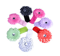 Free Shipping Hot Sell Europe and America newborn children hair accessories Headbands 100pcs/lot Mixed color