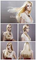straight long blonde wigs for women sensational ladies wigs A3401