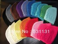 Free Shipping Hot Baby Crochet Hat 100pcs/lot, Mixed Color