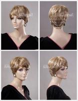 short blonde mommy wig  kanekalon natural looking wigs  A3320