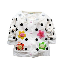 Hot sale free shipping long sleeve girls sweaters cardigans girl 4 colors S M L XL