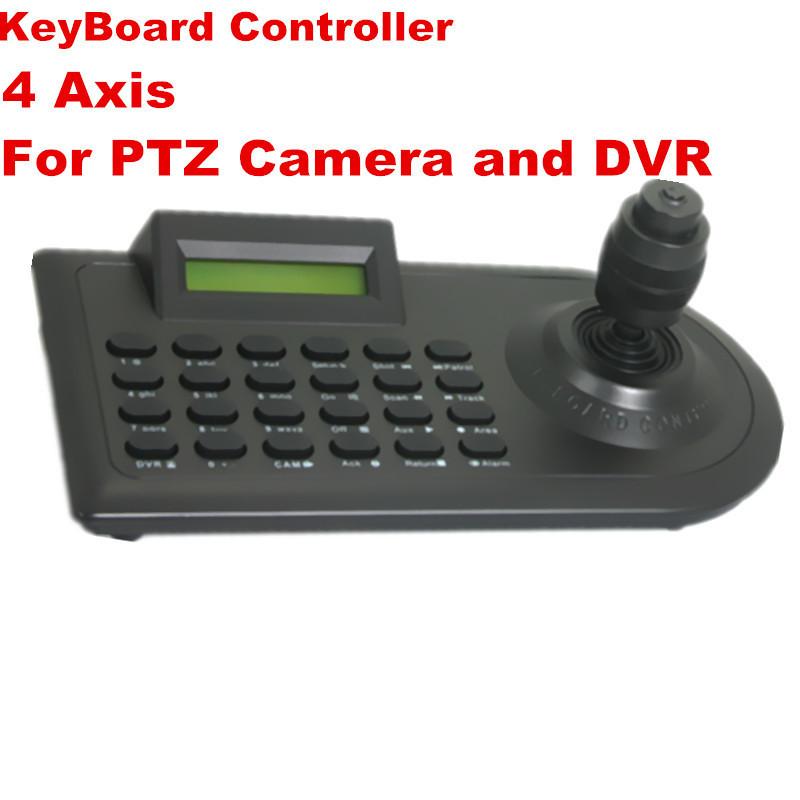 Free Shipping DHL/EMS: High Speed PTZ Camera 3D 4 Axis joystick Keyboard Controller LED RS-485 16Keyboards 32PCS CCTV Camera(China (Mainland))