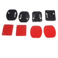 2x Flat Mounts + 2x Curved Mounts With Adhesive Pads For GoPro Hero 3 2 1 Camera  Free Shipping
